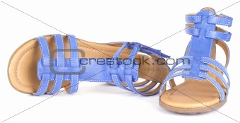 Blue children's maiden sandals