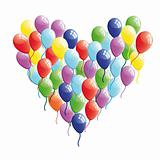Abstract heart balloon vector