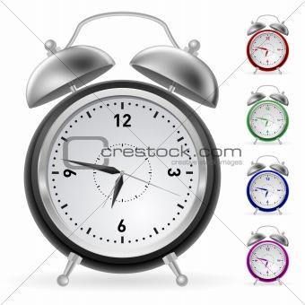 Realistic colorful clock