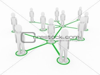 3d men network social green