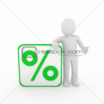 3d man sale percentage green