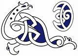 Celtic bird ornament
