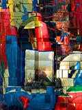 Abstract colorful mirror mosaic.