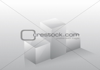3d isolated podium pedestal gray