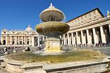 The Saint Peter's Basilica in Vatican