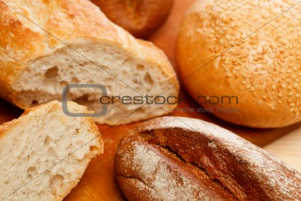 Assorted bread