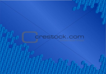 abstract cubes on blue background
