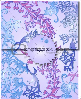 Classical background with a flower pattern. Vector