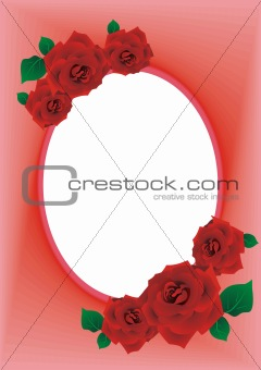 frame rose red