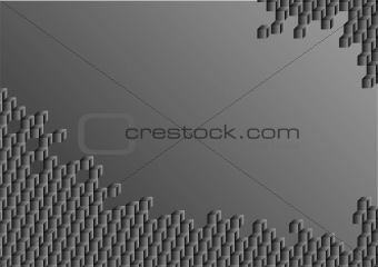 abstract cubes on a gray background