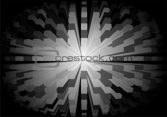 background abstraction cubic sphere black-and-white