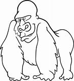 gorilla for coloring book
