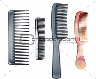 Four plastic combs