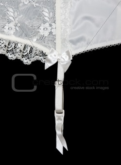 White lace on white background