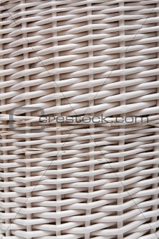 Braided basket in the manner of background
