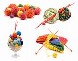 ollage varicoloured ball for knitting