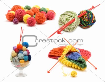 Ð¡ollage varicoloured ball for knitting