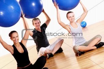 people group  doing fitness exercises