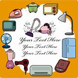 cartoon home appliance card