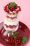 Red and black currant parfait