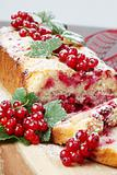 Red currant sponge cake