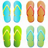 flip flops - vector illustration