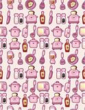 seamless cartoon kitchen pattern