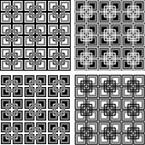 Seamless checkered patterns set.