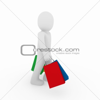 3d man go sale bag