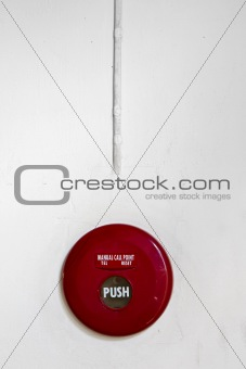 Red round manual call point