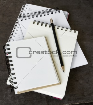 Four Notebook overlapping