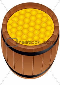 A barrel of honey