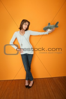 Woman With Fur Toy
