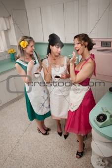 Three Women Gossiping