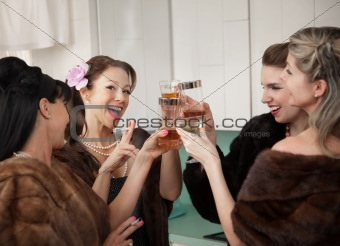 Women Raising A Toast