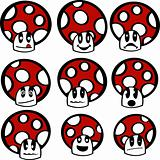 Mushroom emoticons
