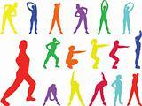 aerobics girl 6 - vector