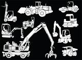 Construction machines 2 - vector