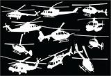 helicopters collection 3 - vector