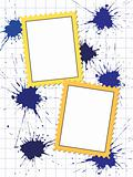 vector postage stamps frame pattern