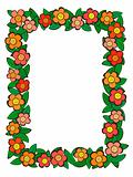cartoon flower pattern frame