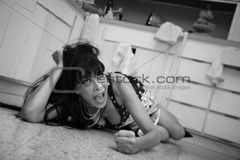 Weeping Woman On Floor