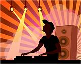DJ in music club
