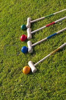 croquet family garden game