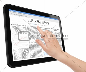 Business News Concept on Tablet PC