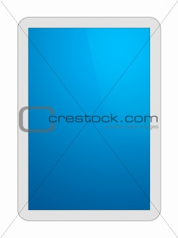 White Tablet PC with Clipping Path