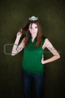 Bored Woman With Tiara