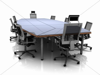 3D render of conference table