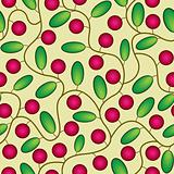 red cranberries seamless background
