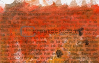 grunge and painted vintage book page